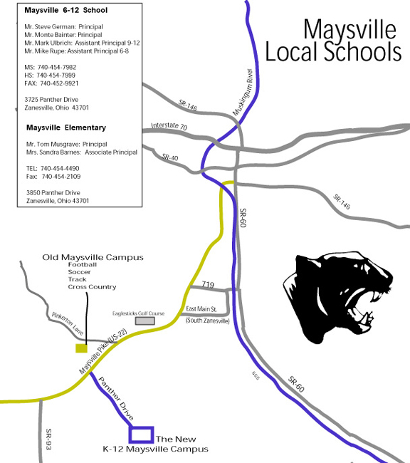 Map: Maysville Local Schools